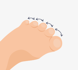Toe spreading exercise
